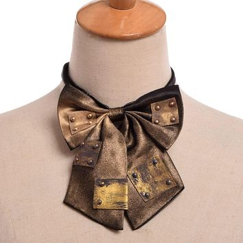 1pc Steampunk Vintage Bowknot Bow tie Industrial Victorian Neck Tie Costume Accessory