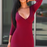 Katy Dress - Burgundy