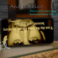 Paul Walker quote iPhone case, iPhone 4/4S, iPhone 5/5S, iPhone 5c, Galaxy S3 i9300, S4 i9500, Design By Custom And Clothing