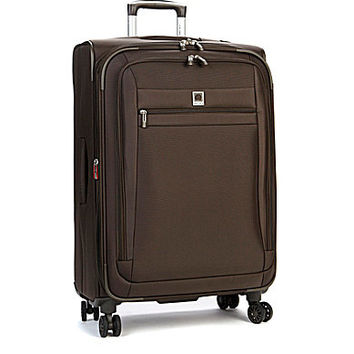 "Delsey Helium Hyperlite 25"" Expandable Spinner Trolley - Brown 25"" Exp"