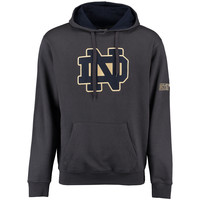 Notre Dame Fighting Irish Stadium Athletic Big Logo Pullover Hoodie - Charcoal