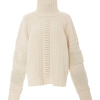 Felted Cable Sweater With Shearling | Moda Operandi
