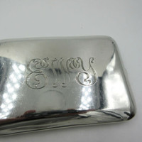 Vintage Mexico Sterling Silver Cigarette Case Card Holder 158 grams !!