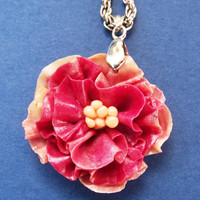 Carnation Floral Pendant - Mothers Day Gift