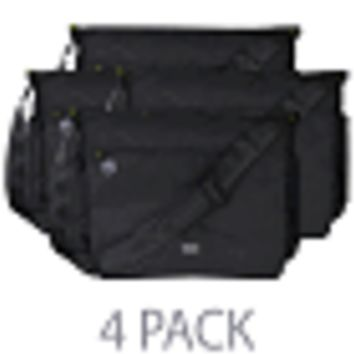 "(4-Pack) Cocoon Soho 17 Laptop Messenger Bag w/Grid-It System - Fits 17"" (Black w/Yellow Interior)"