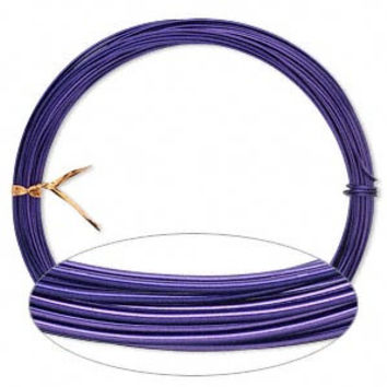 Purple Aluminum Wire 18 gauge Bendable Colored Soft Wire Wrapping Craft Bulk Reel Wholesale Jewelry Supply CrazyCoolStuff