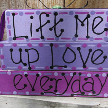 DMB Everyday, Dave Matthews home decor, DMB lyrics decor, Dave Matthews Art, wooden blocks, stacking blocks, Lift Me Up Love, Everyday