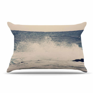 "Sylvia Coomes ""Crashing Waves 2 "" Blue Costal Pillow Case"