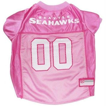 PEAPYW9 Seattle Seahawks Pink Dog Jersey