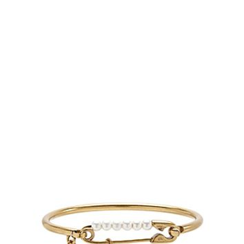 Pearl Safety Pin Hinge Cuff - Marc Jacobs