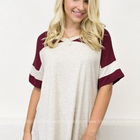 Oversize Sports Top | Wine