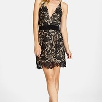 Women's Dress the Population 'Ava' Lace Minidress,