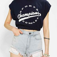 Urban Renewal Cinched & Cropped Tee- Blue