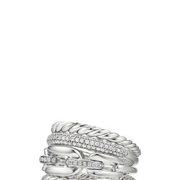 David Yurman Stax Four-Row Ring with Diamonds | Nordstrom