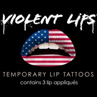 Violent Lips - The American Flag - Set of 3 Temporary Lip Appliques