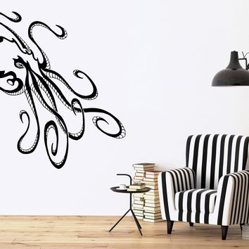 Tribal Octopus Ocean Sea Marine Animal Decor Wall MURAL Vinyl Art Sticker Unique Gift (m501)