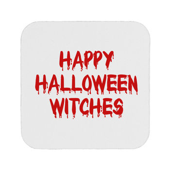 Happy Halloween Witches Blood Red Coaster