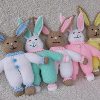 Hand-knitted Bunny Rabbit