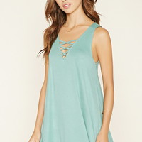 Crisscross A-Line Mini Dress
