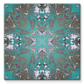 Teal Painting Stretched Canvas