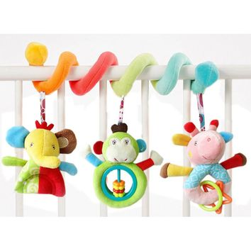 JJOVCE Playpen Baby Crib Bed Hanging Toys Stroller Rattles Plush Elephant  Infant Carrier Accessories for Newborn dropshipping