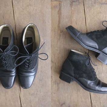 black ankle boots / two-tone boots / boots 8.5 9