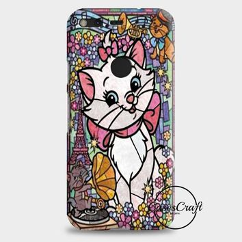Marie Cat DisneyS The Aristocats Stained Glass Google Pixel 2 Case   casescraft
