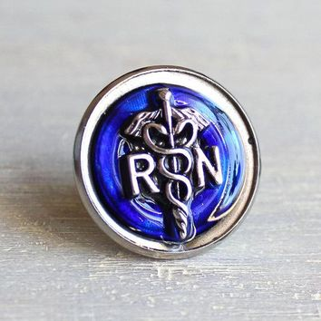 Registered nurse pin - available in additional colors