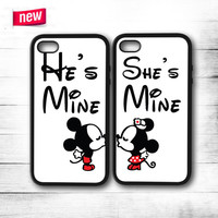 He'S Mine She'S Mine  iPhone 4 4S 5 5S 5C 6 6 Plus , iPod 4 5 , Samsung Galaxy S3 S4 S5 Note 3 Note 4 , HTC One X M7 M8 Couple Case