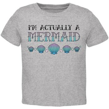 LMFCY8 Halloween I'm Actually a Mermaid Toddler T Shirt