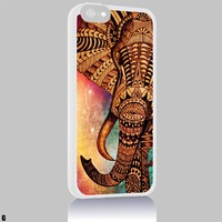 Elephant Drawing Galaxy Nebula Aztec Iphone 4/4s 5 5c 6 6plus Case (iphone 6plus white)