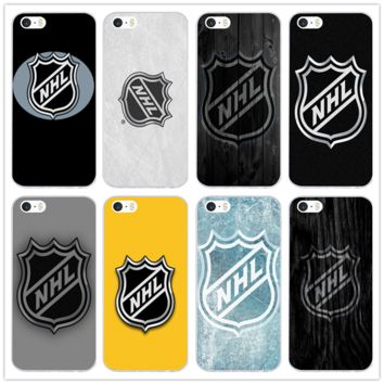 For iPhone X 10 7 8 Plus 4 4S 5 5S SE 5C Coque Bags Soft TPU Silicone Transparent Mobile Phone Case Nhl Hockey Puck for iphone 6