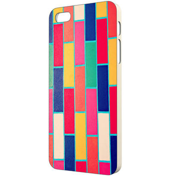 Colorful iPhone Case - FREE Shipping to USA bright bold brick pattern print apple iphone 5c 5s 4 4s slim plastic cases