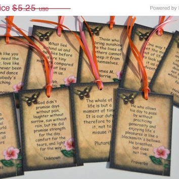SALE 40% SUMMER SIZZLER Famous Life Quotes Tags Set of 9