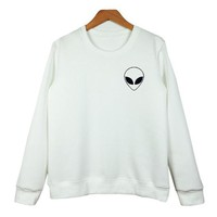 Alien Pattern T-shirt Sweater MMS1248