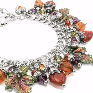 Autumn and Fall Charm Bracelet