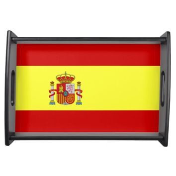 Spain, flag serving tray