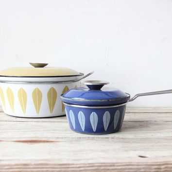 Blue Cathrineholm Enamelware Sauce Pan