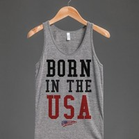 American made vintage fit Born in the USA tank top t-shirt tee
