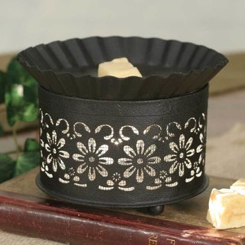 Short Round Wax Warmer Daisy with Screen Insert