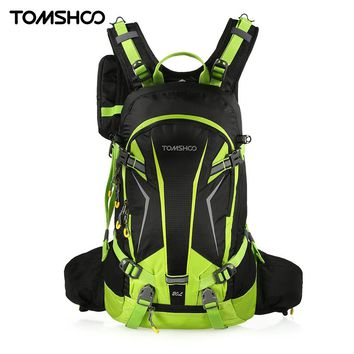 TOMSHOO 20L Waterproof Cycling Backpack Climbing Rucksack Pack Outdoor Bag Travel Hiking Backpack Daypack with Rain Cover