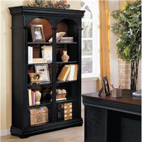 Marlowe Double Bookcase with Lights by Wynwood - Riverview Galleries - Open Bookcase Furniture Store NC by Riverview Galleries located in Durham North Carolina has the area's best Selection of Furniture Online