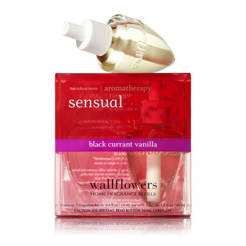 Bath and Body Works Aromatherapy Sensual Black Currant Vanilla Wallflowers 2-...