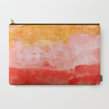 coral horizon Carry-All Pouch by Patternization | Society6