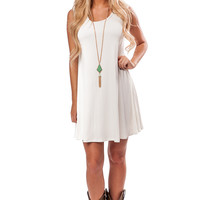 Ivory Babydoll Tank Dress or Top