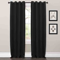 Lush Decor C21088P14-000 Jamel Black 63 x 52-Inch Blackout Curtain Panel Pair