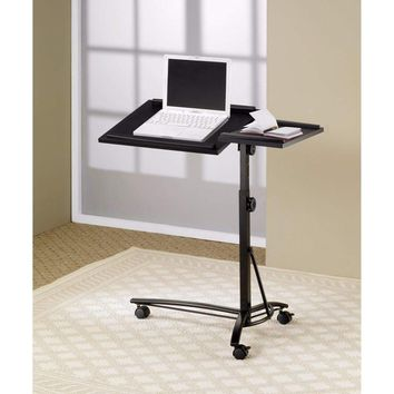 Vivacious Laptop Stand with Adjustable Swivel Top, Black