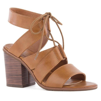 Valor Lace Up Heel Tan 8.5