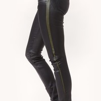 LEATHER PANT WITH STRIPE