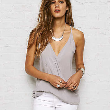Don't Ask Why Woven Tank , Delrey Gray